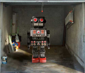 Robot dans un garage