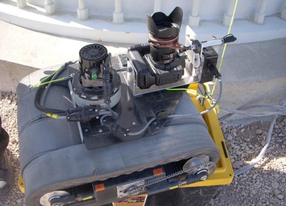 Un robot pour inspecter les éoliennes