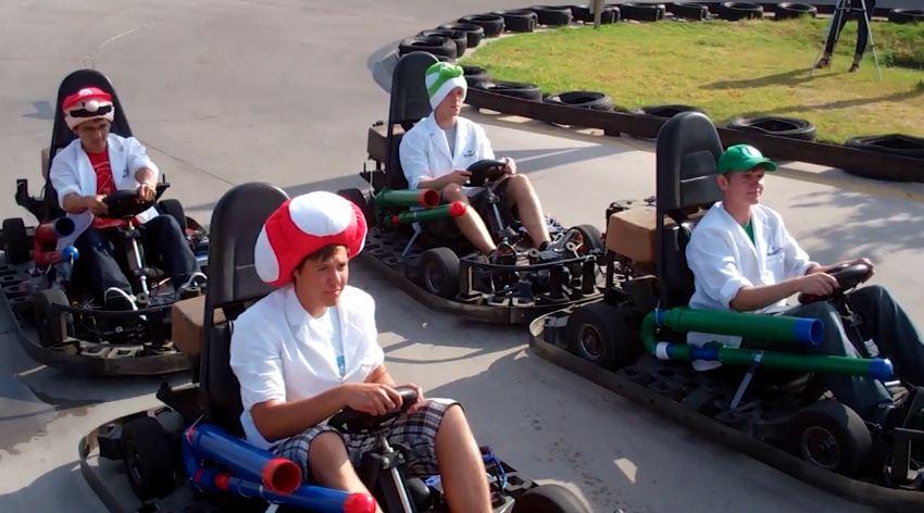 Mario Kart en vrai… avec des karts robotiques !