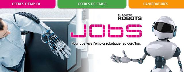 Jobs, la plateforme de l'emploi robotique