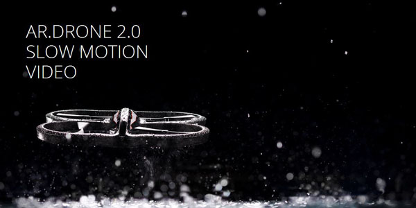 Slow motion et stunt pour l'AR.Drone 2.0 : EPIC !