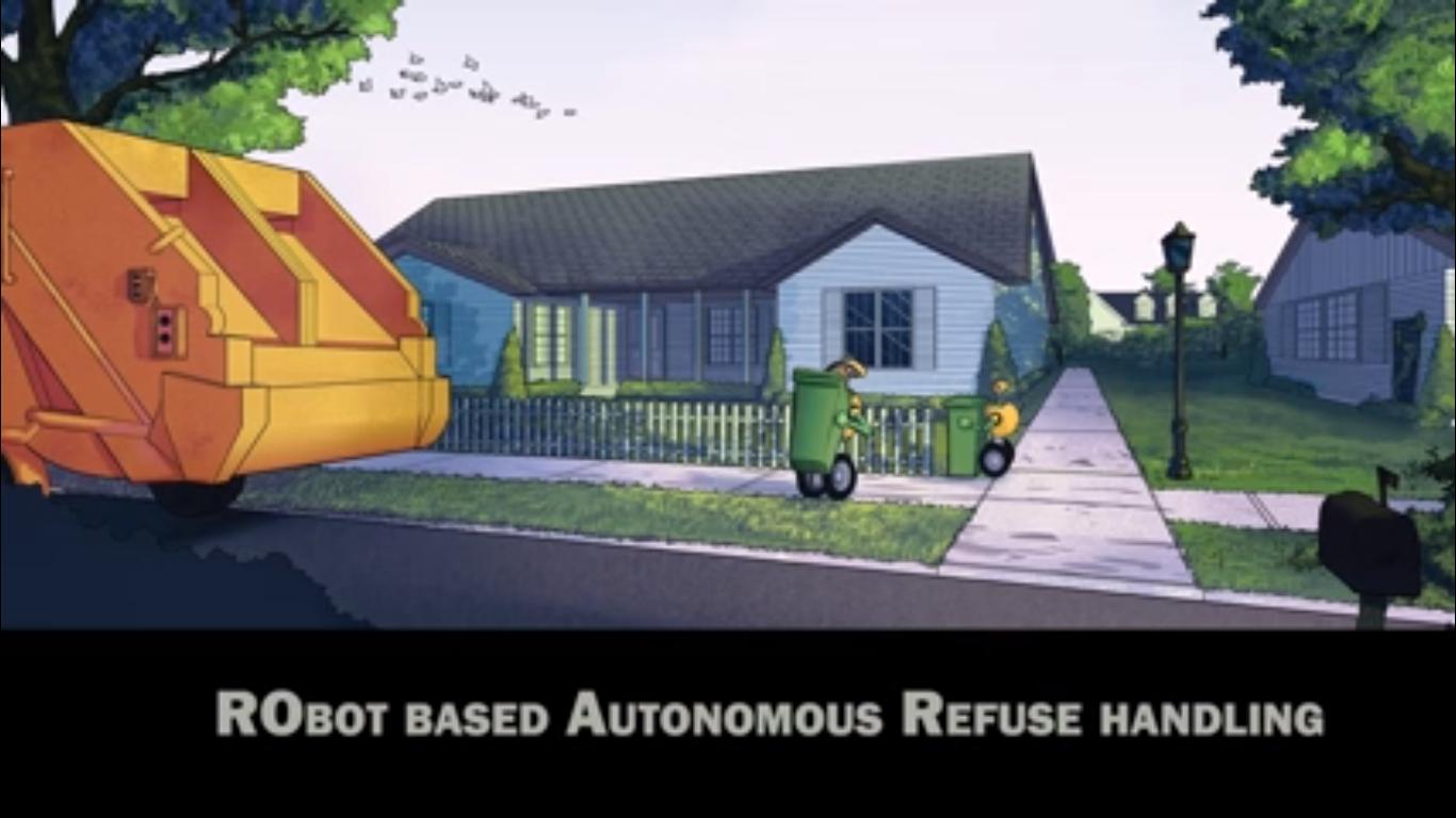 Un robot assisté d'un drone pour le ramassage des poubelles !