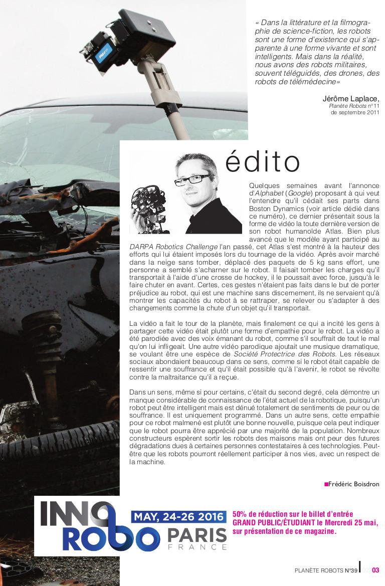 1p edito39 - Robotique et sécurité