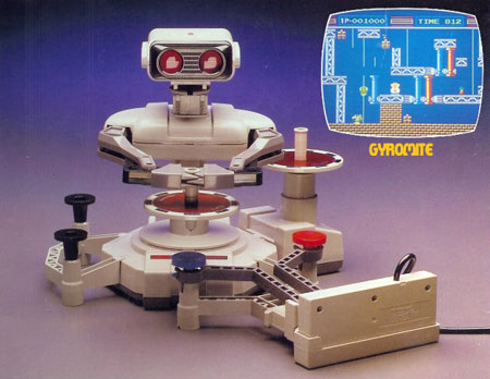 Le R.O.B. de Nintendo permettait d'avoir un compagnon de jeu sur la console NES.