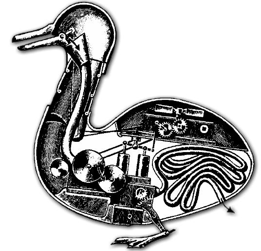 Le canard de Vaucanson était en fait le premier gastrobot