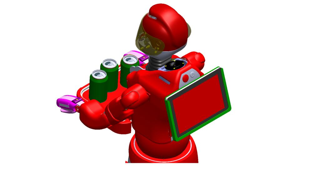 Ecran du robot Leenby de Cybedroid