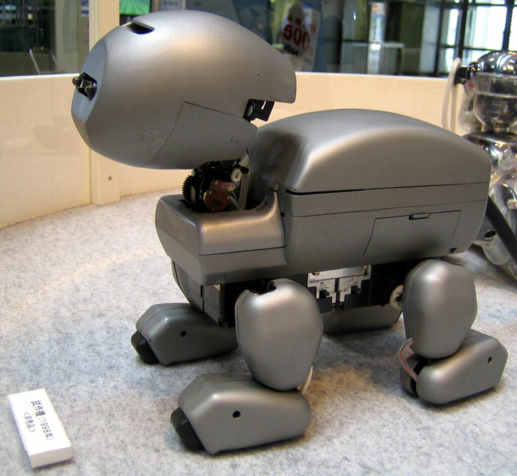 Un des premiers prototypes d'Aibo