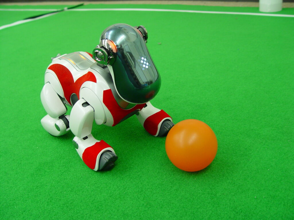 Aibo ERS-7, ancien champion de football à la Robocup