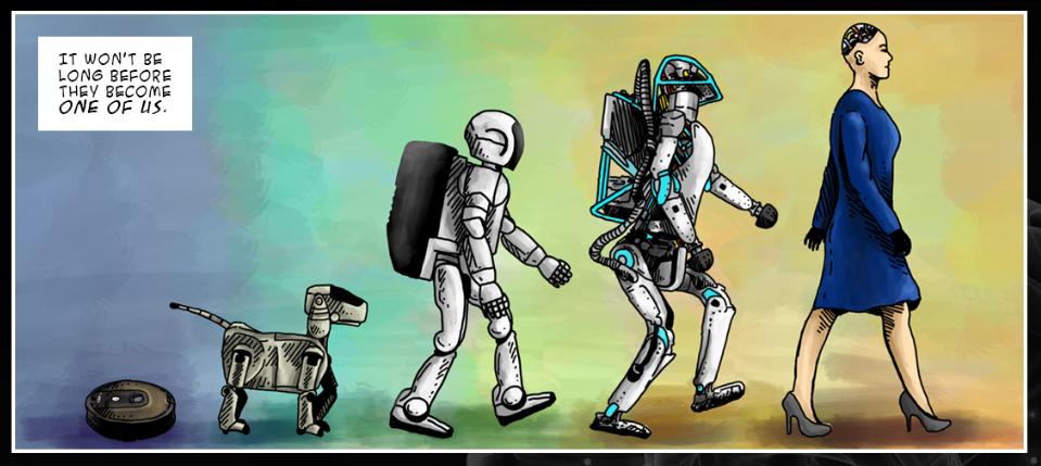 L'évolution des robots en BD