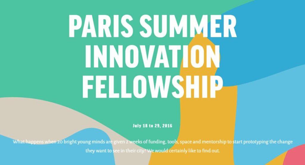 Paris Summer Innovation Fellowship - Planete Robots