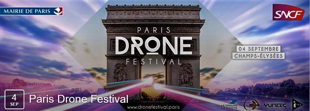 Des drones à Paris pour un festival le 4 septembre