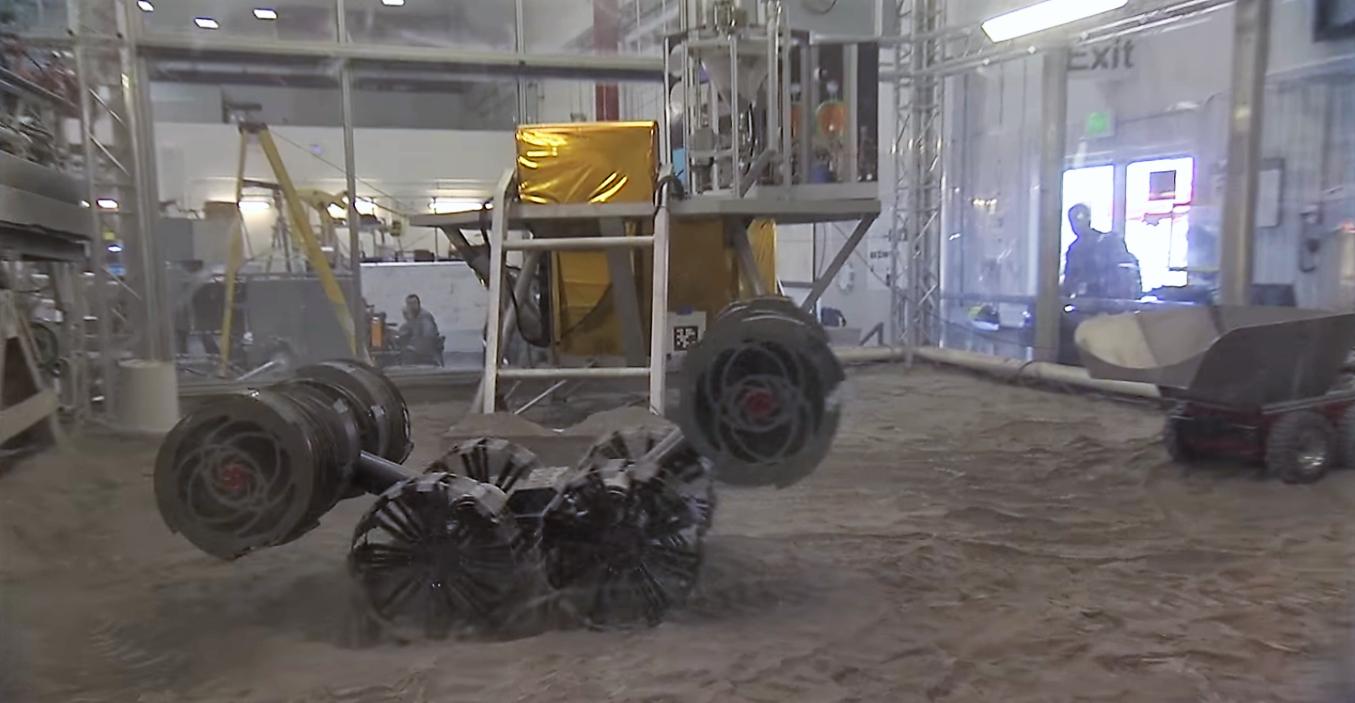 RASSOR va chercher des ressources naturelles sur MARS