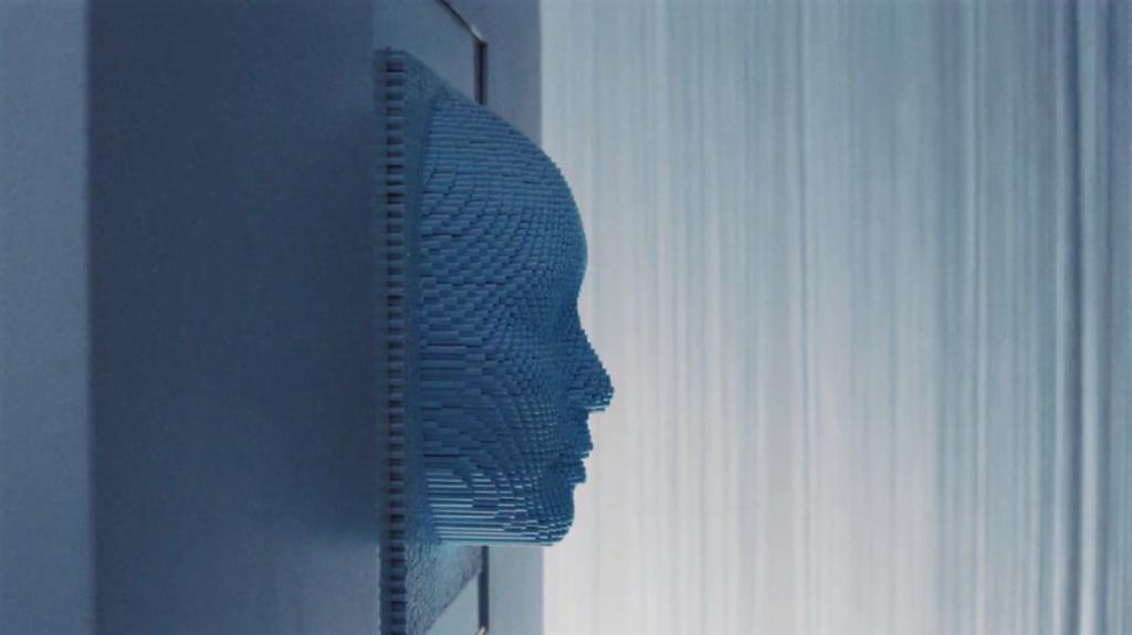 Un visage reproduit en 3 Dimensions pour du mapping