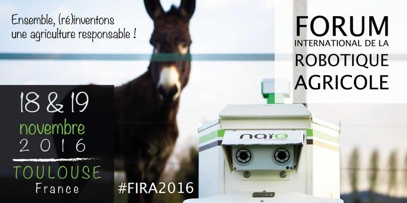 Keynote de robots agricoles lors de la FIRA à Toulouse les 18 et 19 novembre 2016