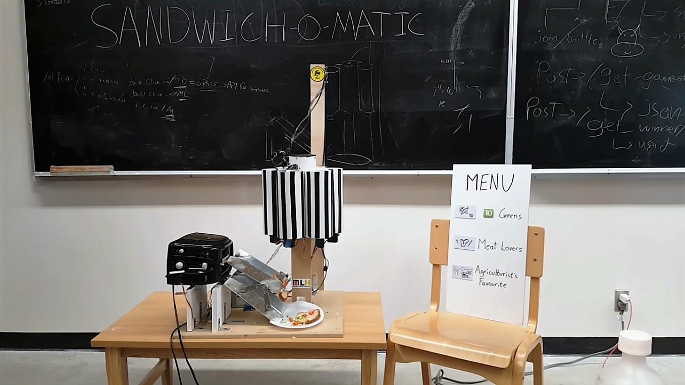 """Shandwich-o-matic, le robot qui vous """"prépare"""" vos sandwichs"""
