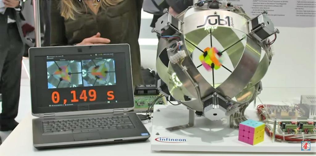 Un Rubik's Cube résolu en moins d'une seconde par le robot Sub1 Reloaded
