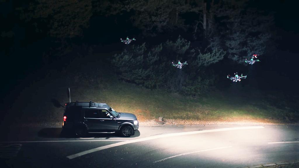 Les drones, nouveau dispositif d'éclairage de routes