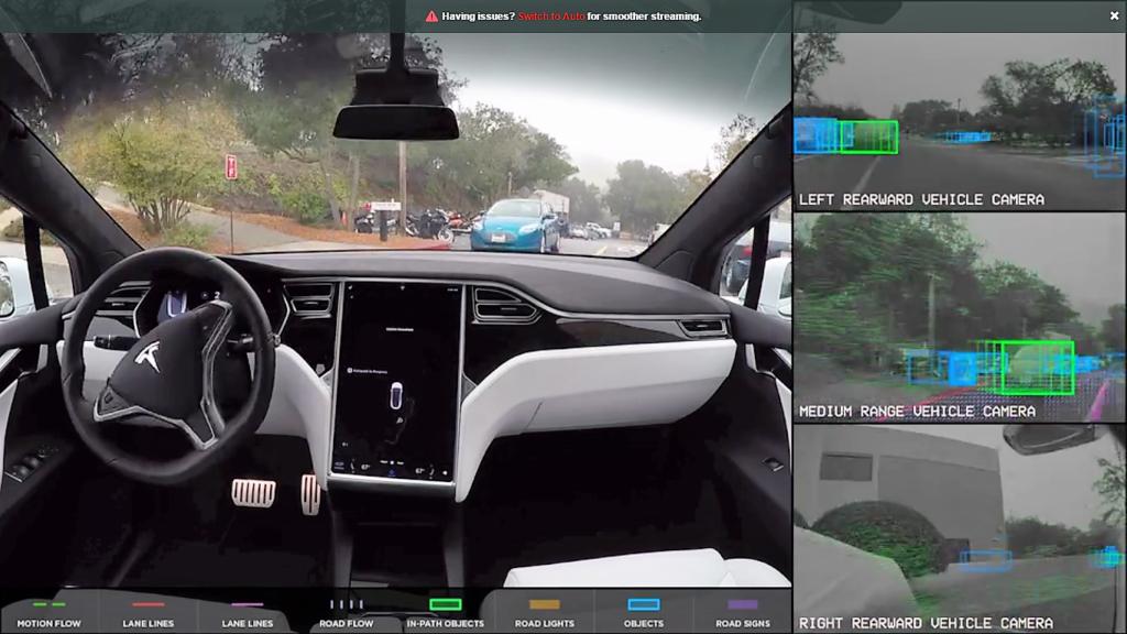 [Vidéo] La conduite autonome de Tesla en démonstration