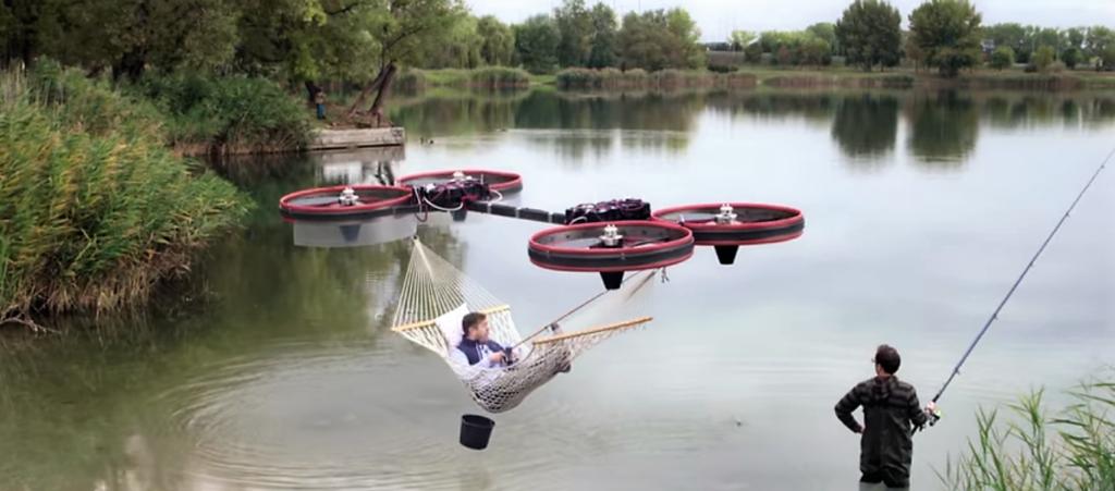 Un drone hamac, un drone cuisinier… Des drones à toutes les sauces !