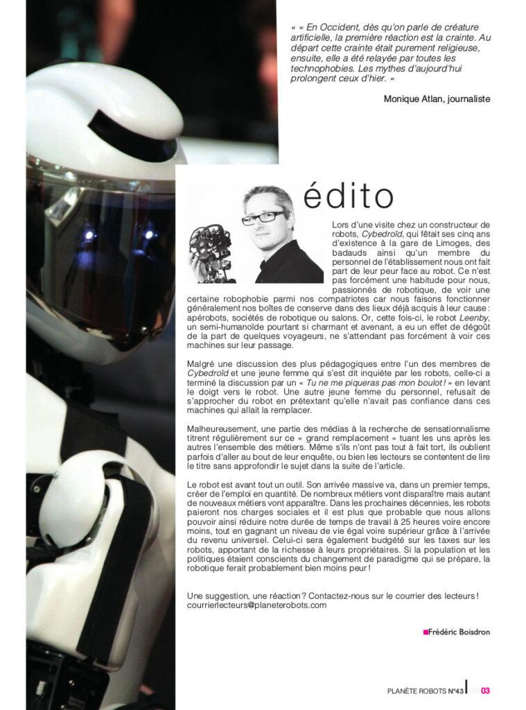 Edito Planete Robots 43 - technologies