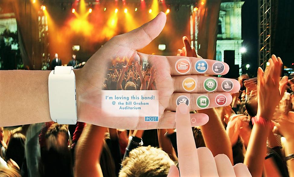 eyeHand, le smartphone projeté dans la main !