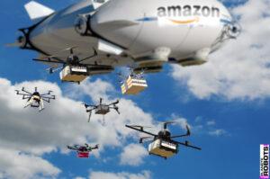 Vision d'artiste du principe de livraison Air Prime Amazon