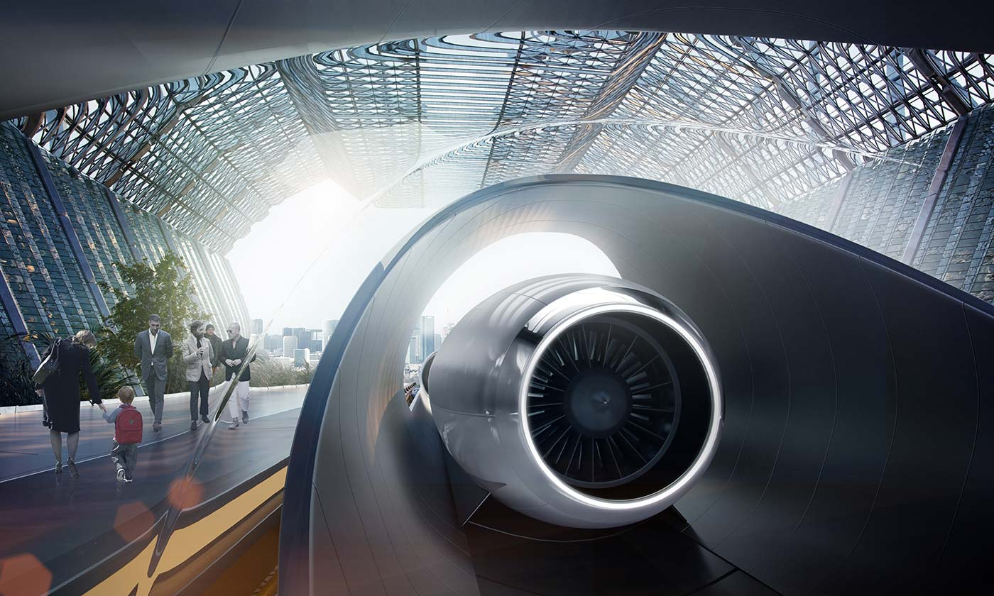 Gare hyperloop
