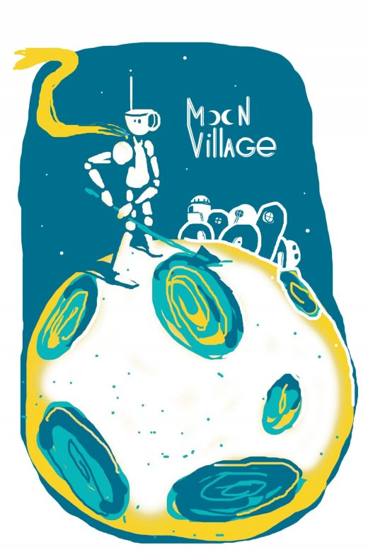 Visuel illustratif d'un robot sur la Lune