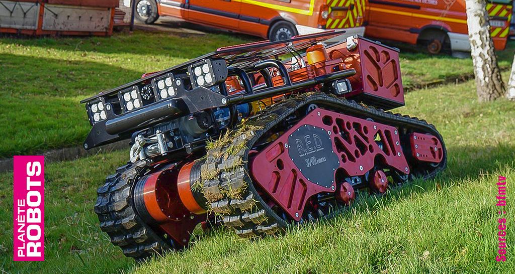 Colossus de Shark Robotics assiste les pompiers en intervention