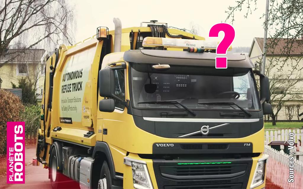 Y-a-t-il un conducteur dans le camion benne ?