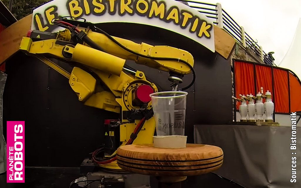 Nestor, un robot à la retraite dans un bistro