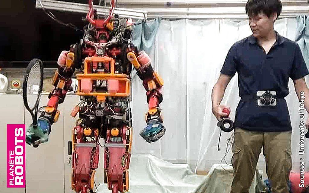 Mieux que l'exosquelette, le robot humanoïde en téléprésence