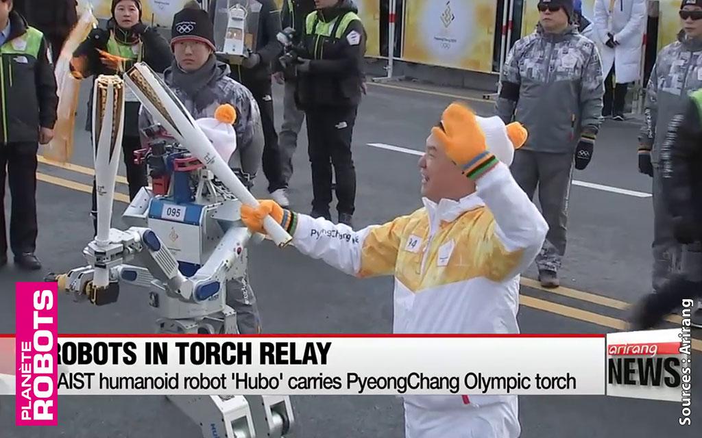 En Corée, un robot humanoïde participe au relais de la flamme olympique