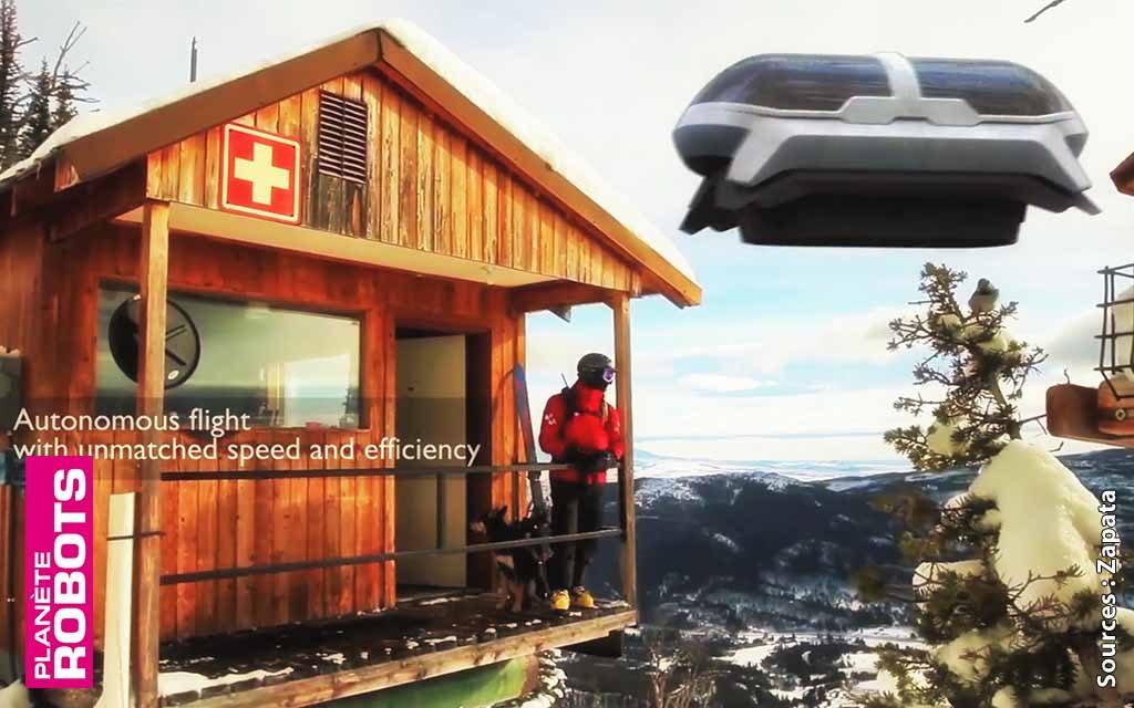 Zapata Stretcher, un super drone d'évacuation médicale