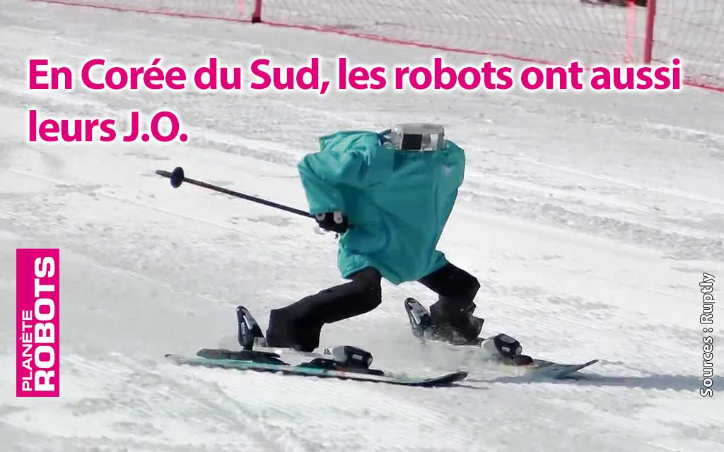 Des robots skieurs s'affrontent aux J.O. de Pyeongchang