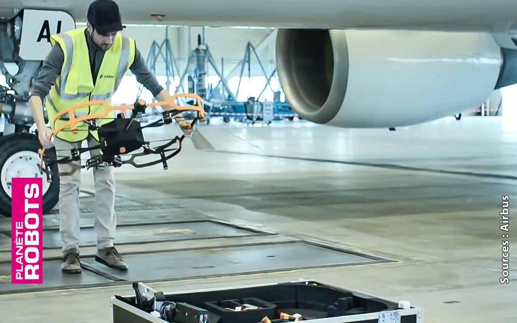 Des drones au service de l'inspection des avions de ligne