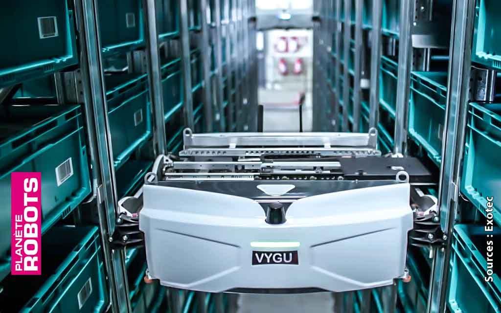 Skypod de Exotec le robot français de manutention en trois dimensions