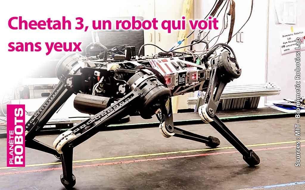 Cheetah 3 un robot quadrupède aveugle mais agile