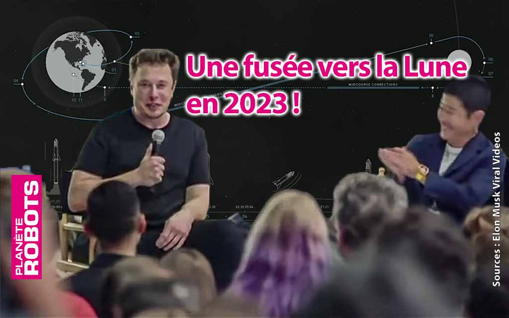 Un vol habité avec des artistes en orbite autour de la Lune pour 2023 !