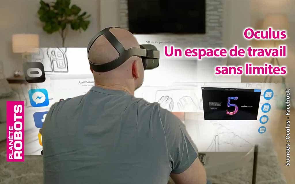 Avec l'Oculus Go votre bureau devient sans limites.