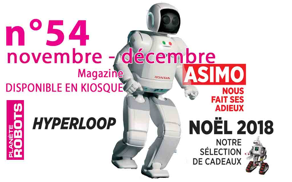 N°54 de Planète Robots - asimo robot noel