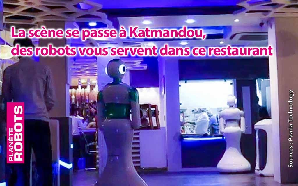 À Katmandou vous pouvez être servis par des robots