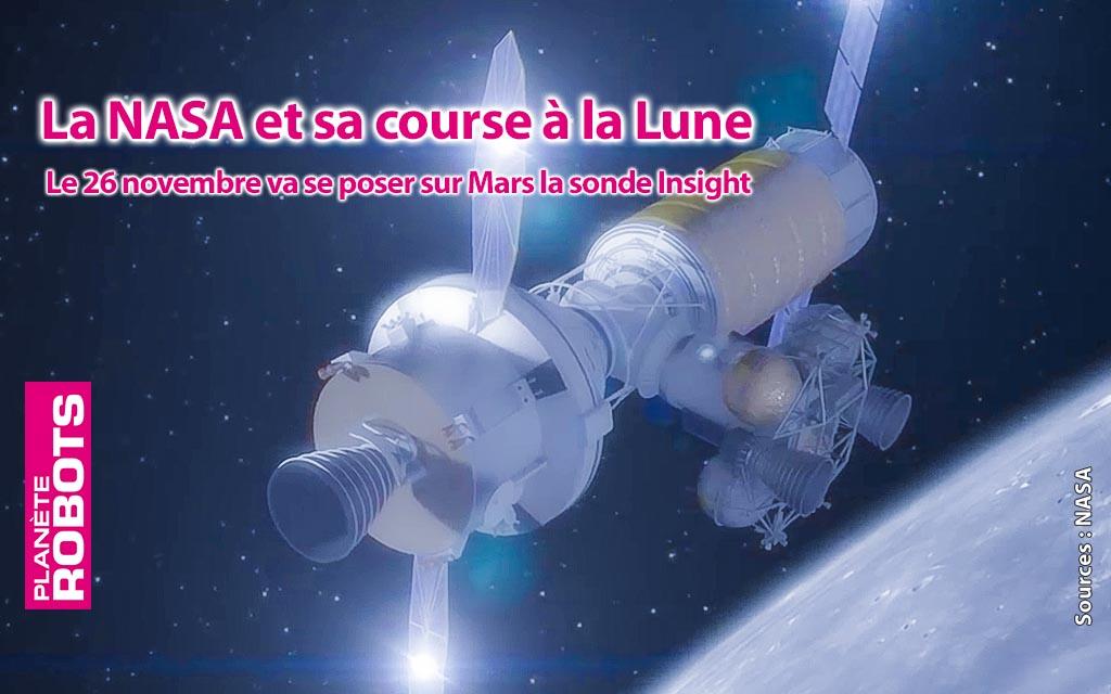La NASA communique sur ses projets lunaires avant l'atterrissage de Insight la semaine prochaine.