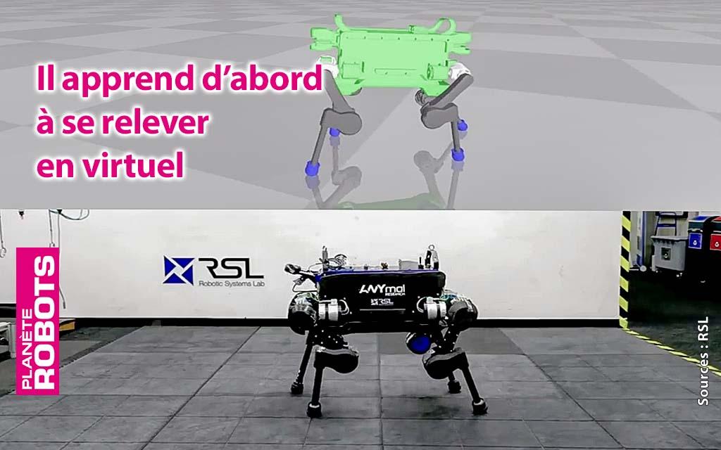 La réalité virtuelle apprend aux robots à tomber et se relever
