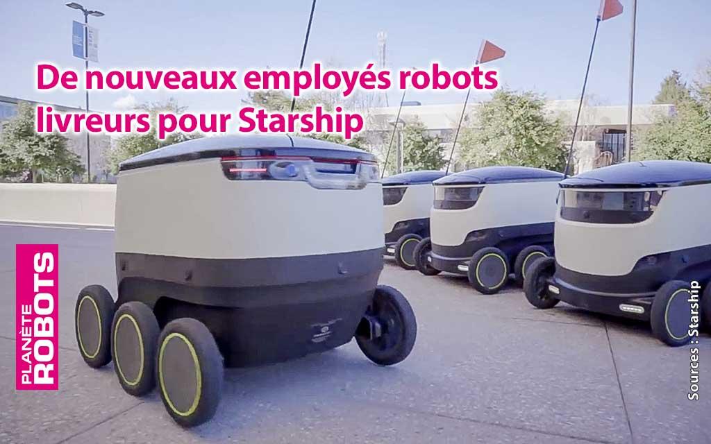 Starship déploie une nouvelle flotte de robots livreurs