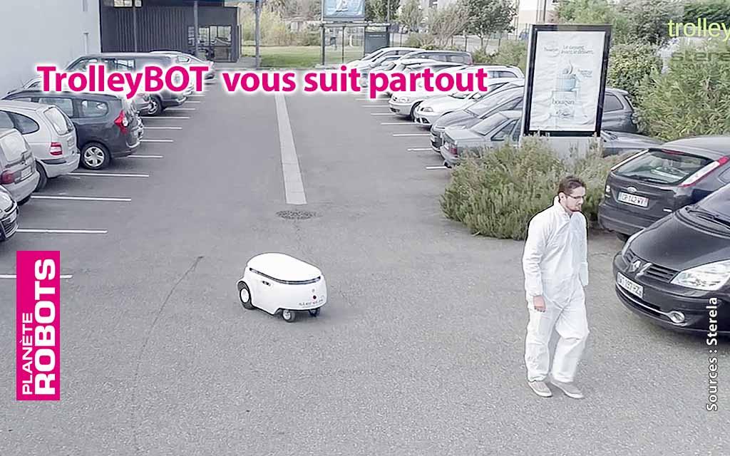 L'entreprise Toulousaine Sterela et son robot porteur intelligent, le TrolleyBOT.