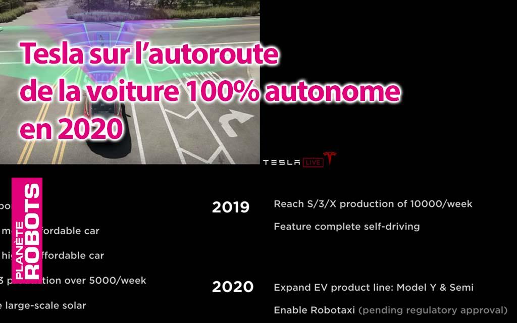 En 2020, Tesla N°1 des véhicules 100% autonomes