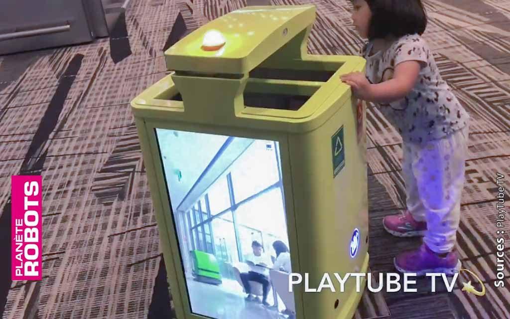 Des robots poubelles évoluent déjà sur les moquettes de l'aéroport