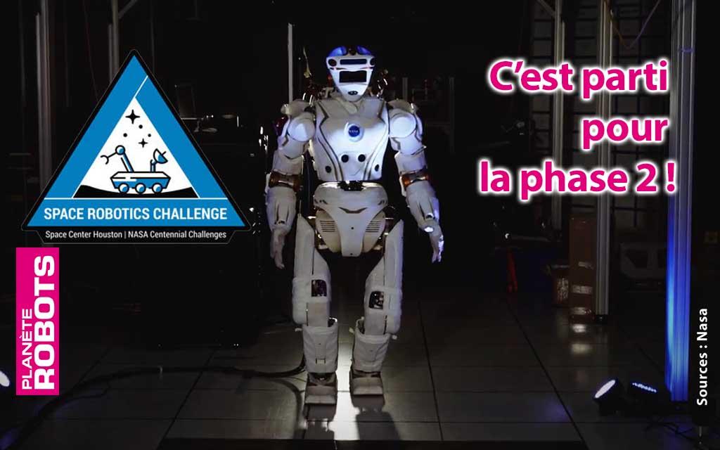 La Nasa a annoncé la phase 2 du Space Robotics Challenge