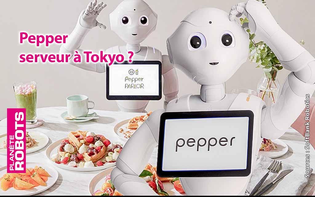 Pepper serveur de gaufres à Tokyo